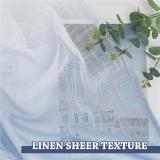 Custom Linen Sheer Curtain Ombre Semi Sheer White Drape Privacy by NICETOWN ( 1 Panel )