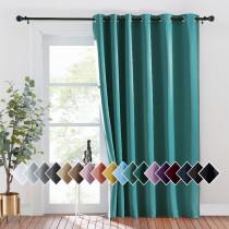 NICETOWN Blackout Hanging Room Divider Curtain,Grommet,Grey (1 Panel)