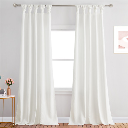 Custom Curtain Long with Shabby Chic Ruffle Trim Soft Silky Opaque Panel for Bathroom Shower Curtain by NICETOWN ( 1 Panel )