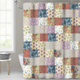 NICETOWN Custom Colorful Shower Curtain Patchwork Design Various Flowers Print Paisley Pattern Bathroom Curtains for Farmhouse Cottage Vintage Style Curtain Liners