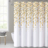 NICETOWN Custom Shower Curtains for Bathroom Weeping Flower African Shower Curtain Polyester Fabric Yellow Floral Waterproof with Hooks & Liners for Showers / Tubs