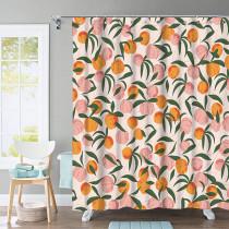 Custom Summer Peach Simple Modern Fashion Shower Curtain by NICETOWN ( 1 Panel )