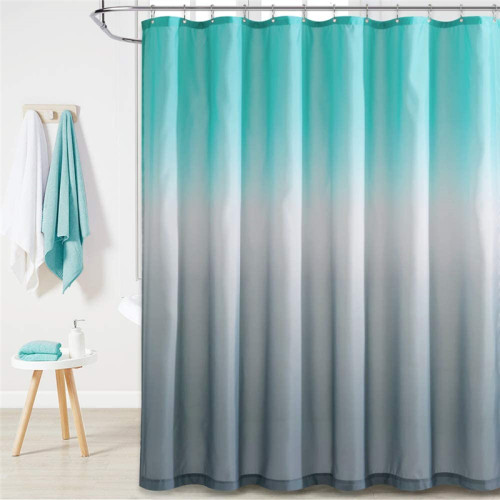NICETOWN Boho Colorful Grey Shower Curtain for Bathroom-Tub Camper Backdrop Loft-Custom 72x72