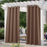 Outdoor Waterproof Grommet Blackout Curtain for Patio/Front Porch(1 Panel) by NICETOWN