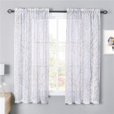 Custom Branch Pattern Semi-Sheer Curtain Privacy Protect Curtain by NICETOWN ( 1 Panel )