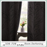 Custom Decorative Modern Branches Pattern Printed Curtain Room Darkening Curtain for Living Room / Bedroom by NICETOWN ( 1 Panel )