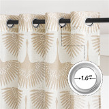 Custom Semi Sheer Curtains Long Geometric Print Window Decor Privacy Protect Light Filtering Drapes for Bedroom Office Basement by NICETOWN ( 1 Panel )