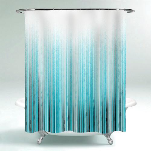 NICETOWN Gradient Line Shower Curtain for Bathroom-Tub Camper Backdrop Loft-Custom 72x72