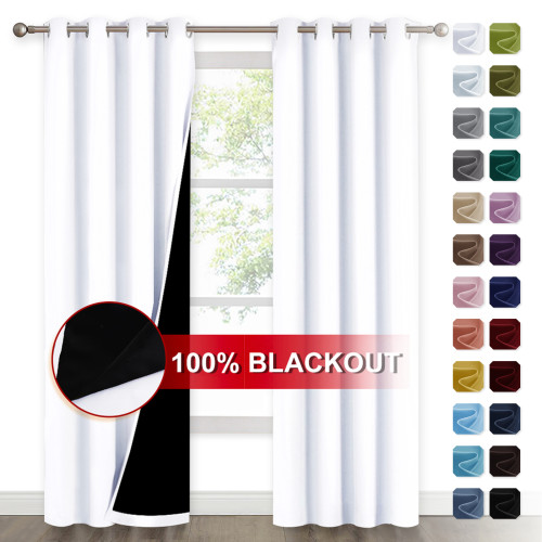 Custom 2 Layers 100% Blackout Curtains Thermal Insulated Curtain for Bedroom by NICETOWN(1 Panel )