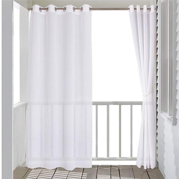 Custom Waterproof Duoli Grommet Top Sheer Curtain for Patio by NICETOWN ( 1 Panel )