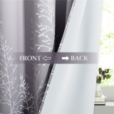 Custom Patio Outdoor Curtains Ombre Waterproof Blackout Curtains for Patio by NICETOWN ( 1 Panel )