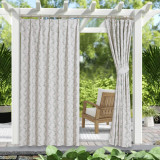 Green Vine Pattern Waterproof&Rustproof Thermal Insulated Outdoor Curtain for Patio/Porch/Cabana by NICETOWN ( 1 Panel )