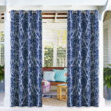 Branch Pattern Waterproof Windproof Block UV Outdoor Curtains for Patio / Foyer / Arbor by NICETOWN ( 1 Panel )