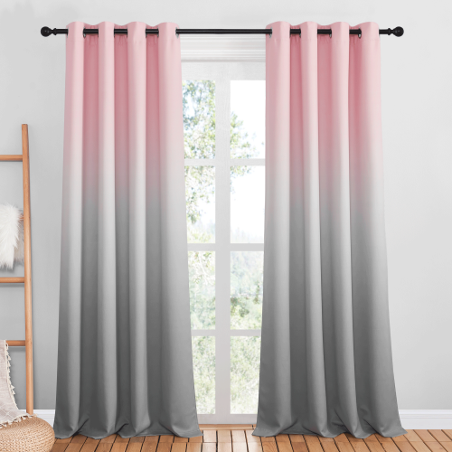 Custom Gradient Printed Indoor Blackout Curtain by NICETOWN ( 1 Panel )