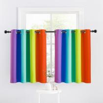 Custom Rainbow Curtain Decoration Blackout Short Curtain for Bedroom by NICETOWN ( 1 Panel )