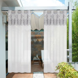 Outdoor Lace Pattern Waterproof Outdoor Curtain for Patio / Porch by NICETOWN ( 1 Panel )