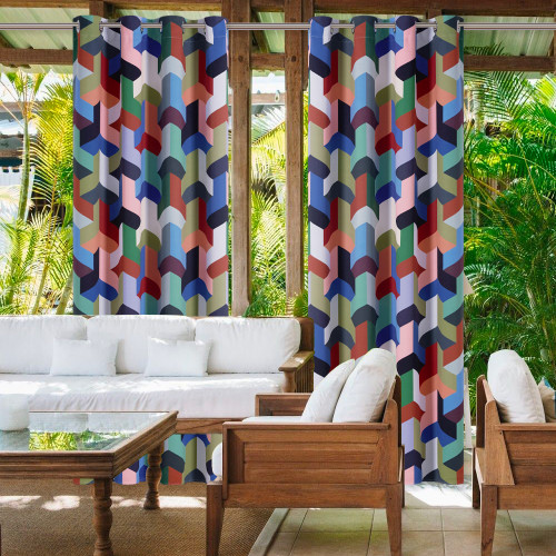 Outdoor Waterproof Blackout Outdoor Curtain for Patio/Porch/Cabana by NICETOWN ( 1 Panel )