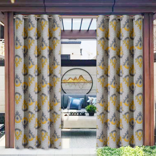 European pattern printed Waterproof&Rustproof Thermal Insulated Outdoor Curtain for Patio/Porch/Cabana by NICETOWN ( 1 Panel )