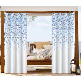 Flower pattern printed Waterproof  Rustproof Thermal Insulated Outdoor Curtain for Patio / Porch / Cabana by NICETOWN ( 1 Panel )