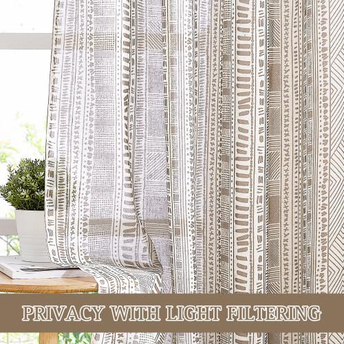 Bohemian Style Printed Waterproof Sheer Curtain for Patio by NICETOWN ( 1 Panel )