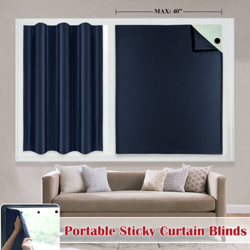 Adjustable Suction Cup Curtains for Rv Window  Portable Travel Curtains