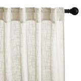 Custom Sheer Linen Curtain for Window Semi Sheer Vertical Drape Privacy with Light Filter for Bedroom / Living Room by NICETOWN ( 1 Panel )