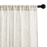 Custom Sheer Curtain with Lace Flower on the Top Voile Sheer Curtain for Living Room by NICETOWN ( 1 Panel )