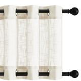 Custom Rustproof Grommet Ombre Faux Linen Sheer Texture Indoor Outdoor Drapes for Pergola / Deck / Garden by NICETOWN ( 1 Panel )
