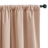 Custom Gold Foil Line Striped Pattern Velvet Curtain Thermal Thick Insulated Blackout Curtain for Bedroom by NICETOWN ( 1 Panel )