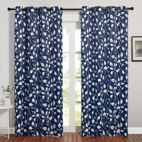Custom Palm Leaves Room Darkening Branch pattern Curtains by NICETOWN ( 1 Panel )