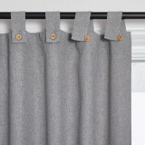 Custom Linen Cotton All Style Solid Blackout Curtain Thermal Insulated Energy Saving Privacy Drapes for Living Room Customized Services by NICETOWN ( 1 Panel )