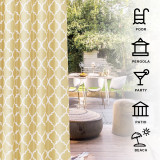 Custom Waterproof Moroccan Pattern Indoor Outdoor Curtains Decor Privacy Protect for Patio Balcony Pavilion Cabana by NICETOWN (1 Panel)