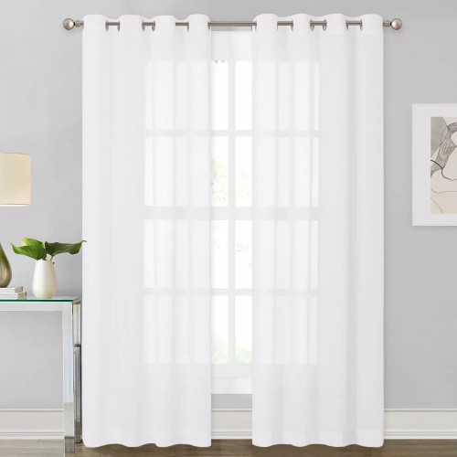 NICETOWN Chiffon Soft Silky Texture Sheer Swatch Refundable Order Amount Over $199
