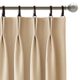Custom Foil Printed Wave Lines Thermal Blackout Drapes for Living Room/Office/Guest Room by NICETOWN ( 1 Panel )