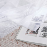 Custom Mauve Sheer x White Tulle Outdoor Backdrop Curtains for Parties Weddings Birthday Party by NICETOWN (1 Panel)