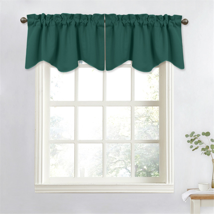 Custom Wave Window Curtain Valance with Pick-Up Accents by NICETOWN (1 Panel)
