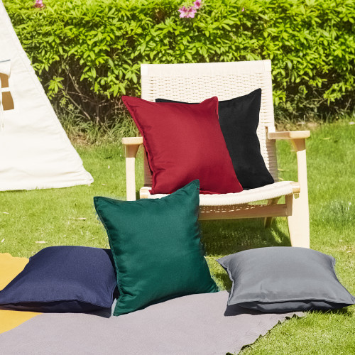 Outdoor Pillow Covers Waterproof Dust Proof UV Protection Square Garden Cushion Covers for Patio Seating by NICETOWN ( 2 Pcs )