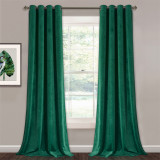 Custom Velvet Curtains Pom Pom - Luxury Velvet Bedroom Curtains Room Darkening Window Decorative Drapes Thermal Insulated Privacy Curtainsby NICETOWN ( 1 Panel )