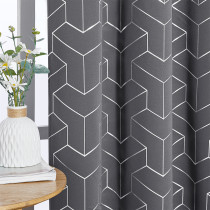Custom Foil Printed Geometric Home Decoration Thermal Insulated( 1 Panel )