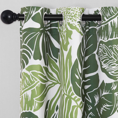 Custom Banana Leaf Pattern Printed Thermal Insulated Blackout Room Darkening Curtain for Bedroom by NICETOWN ( 1 Panel )