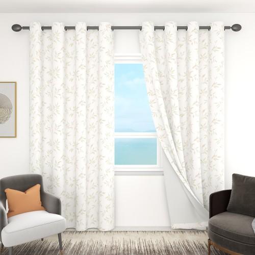 Custom Fallen Leaves Pattern Room Darkening Curtains by NICETOWN ( 1 Panel )