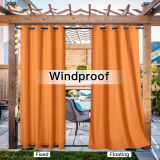 Custom Outdoor Curtains for Patio Waterproof, Thermal Insulated Rustproof Grommet Outdoor / Indoor Curtains Privacy Protect for Landscape by NICETOWN ( 1 Panel )