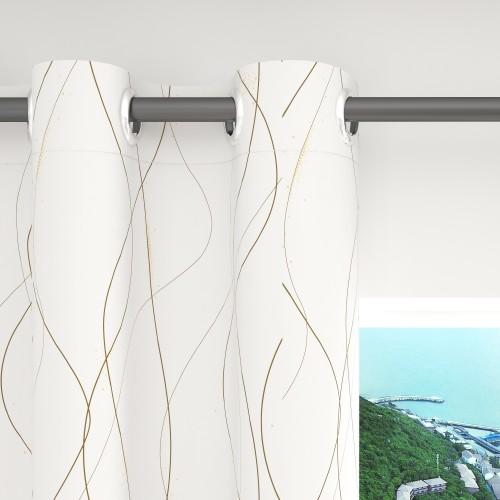 Custom Curve Pattern Room Darkening Curtains by NICETOWN ( 1 Panel )