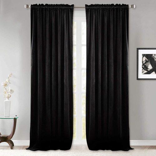 Custom Velvet Curtains  All Size & Style Blackout Curtains Heavy Duty 1 Panel