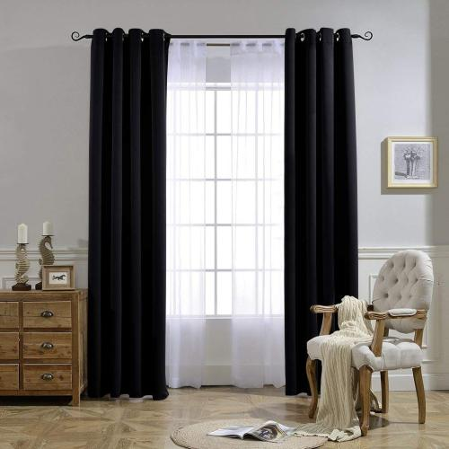 Custom Solid Blackout Curtains Thermal Insulated Energy Saving Privacy Drapes 1 Panel
