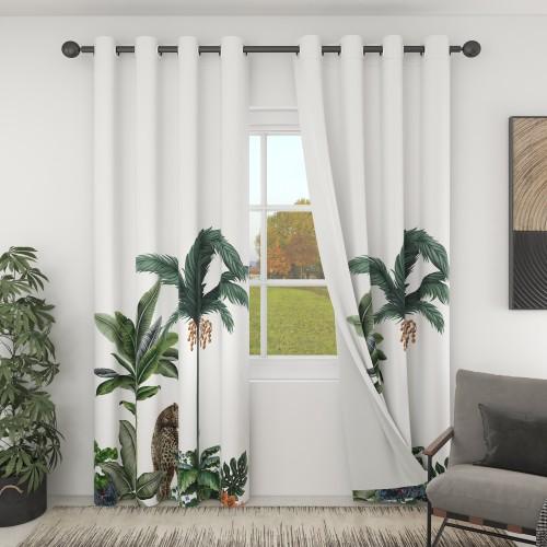 Custom Room Darkening Rainforest Pattern Curtains by NICETOWN ( 1 Panel )