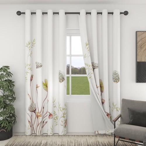 Custom Room Darkening Plant Pattern Curtains by NICETOWN ( 1 Panel )