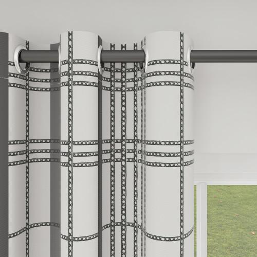 Custom Room Darkening City View Pattern Curtains by NICETOWN ( 1 Panel )