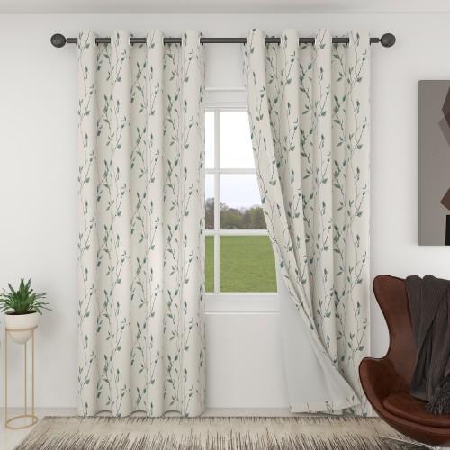 Custom Room Darkening Vine Branches Pattern Curtains by NICETOWN ( 1 Panel )