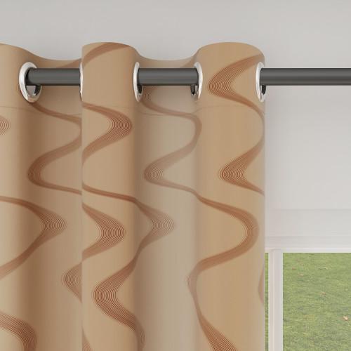 Custom Room Darkening Contour Line Pattern Curtains by NICETOWN ( 1 Panel )